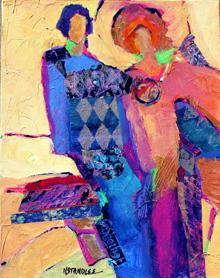 """""""Together 11098  SOLD"""" original fine art by Nancy Standlee"""