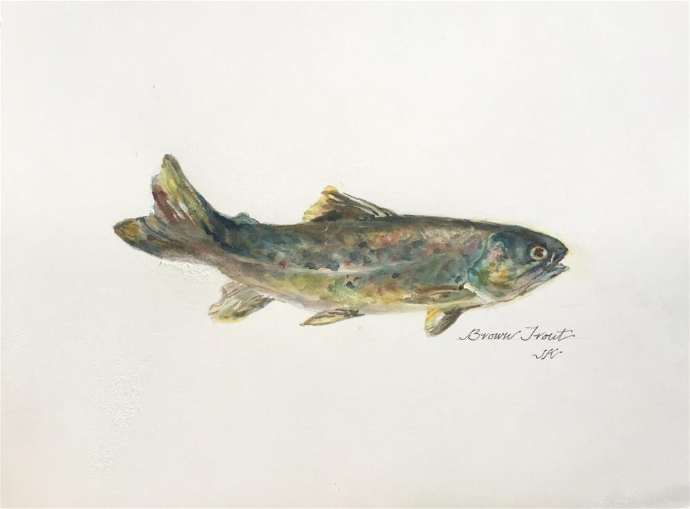 """Brown Trout"" original fine art by Jean Krueger"