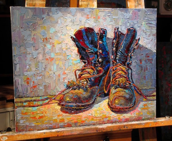 """J's Other Ropers (The Larger) - Easel Shot"" original fine art by Raymond Logan"