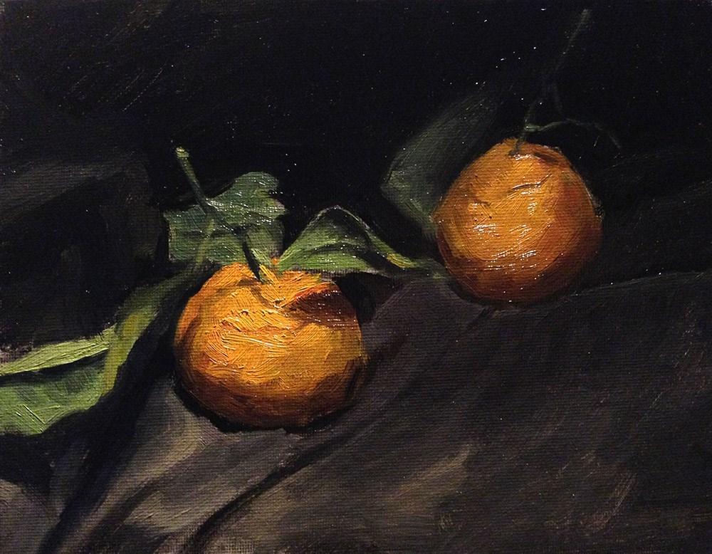 """Double Satsuma on Canvas"" original fine art by Chris Beaven"