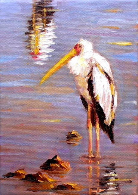 """One Marabou, Two Marabous"" original fine art by Irina Beskina"