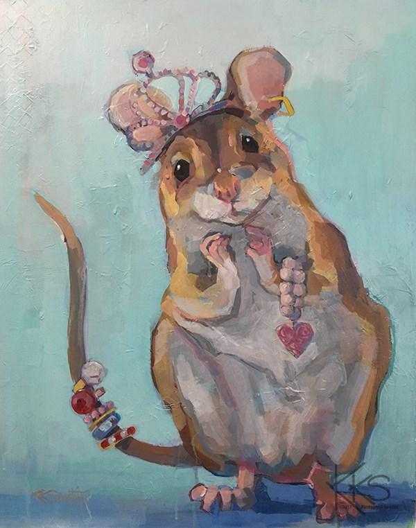 """Minnie Loves Playing Dressup"" original fine art by Kimberly Santini"