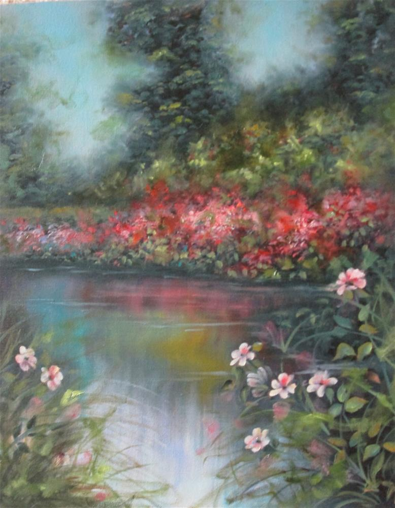 """Reflections on the Lake"" original fine art by Barbara Wagner"
