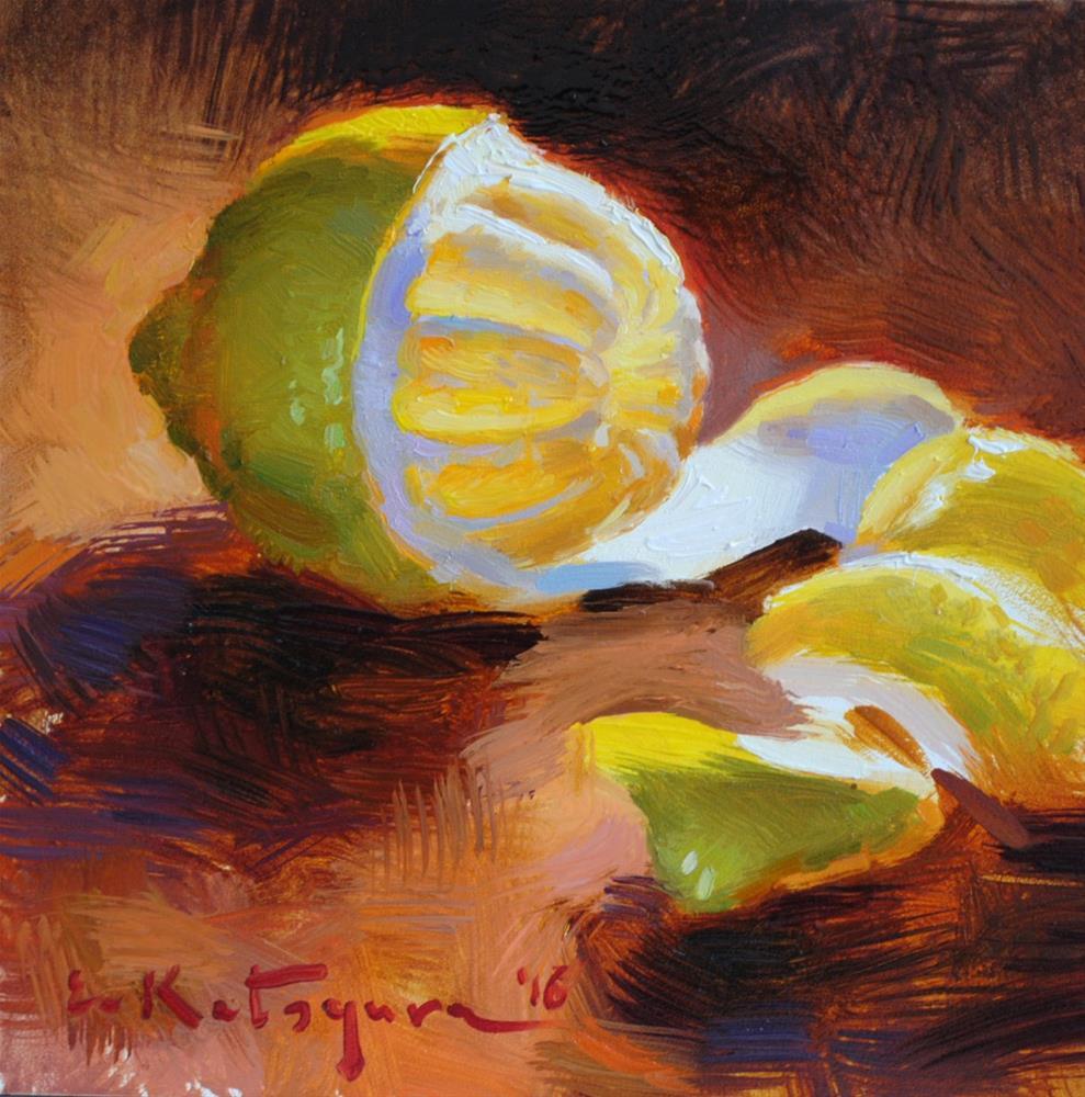 """Lemon"" original fine art by Elena Katsyura"