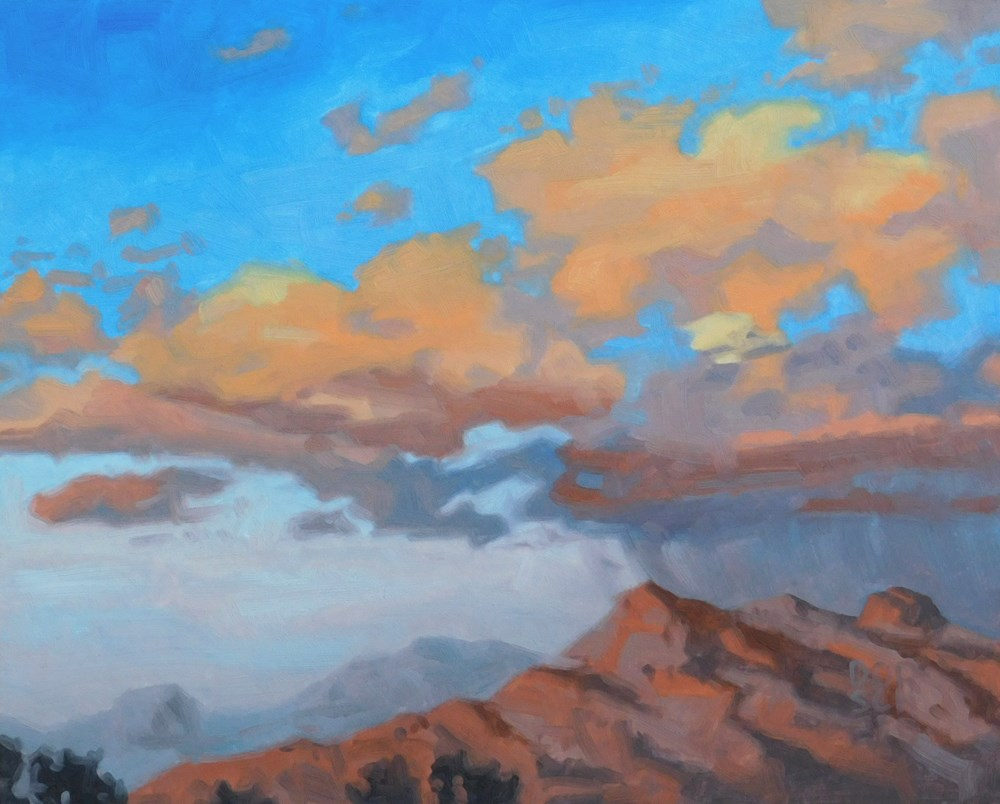 """Tucsan Sky"" original fine art by Les Dorscheid"