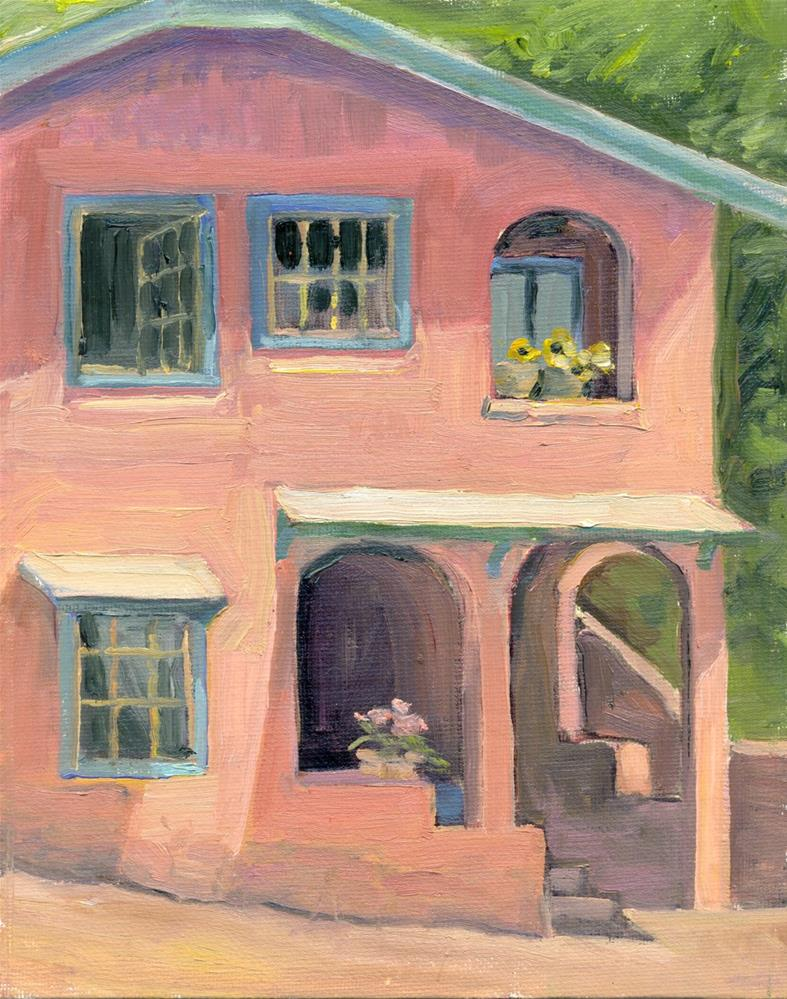 """""""Pink House in Manitou"""" original fine art by Kath Reilly"""