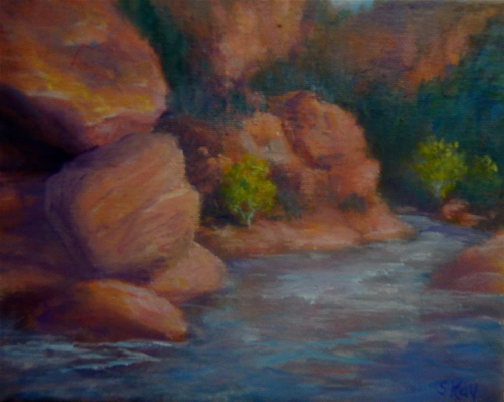 """Oak Creek Memories"" original fine art by Sharon Kay Baker"