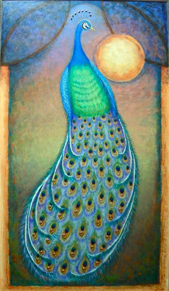 """Luna Gold"" original fine art by Karen Roncari"