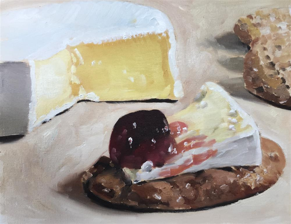 """Still Life With Cheese"" original fine art by James Coates"