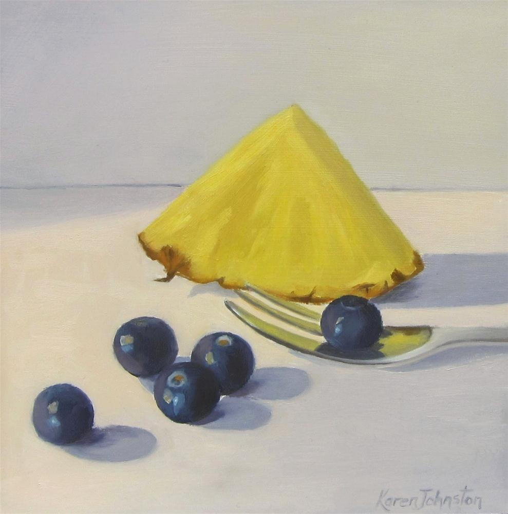 """""""Blueberry Breakfast"""" original fine art by Karen Johnston"""