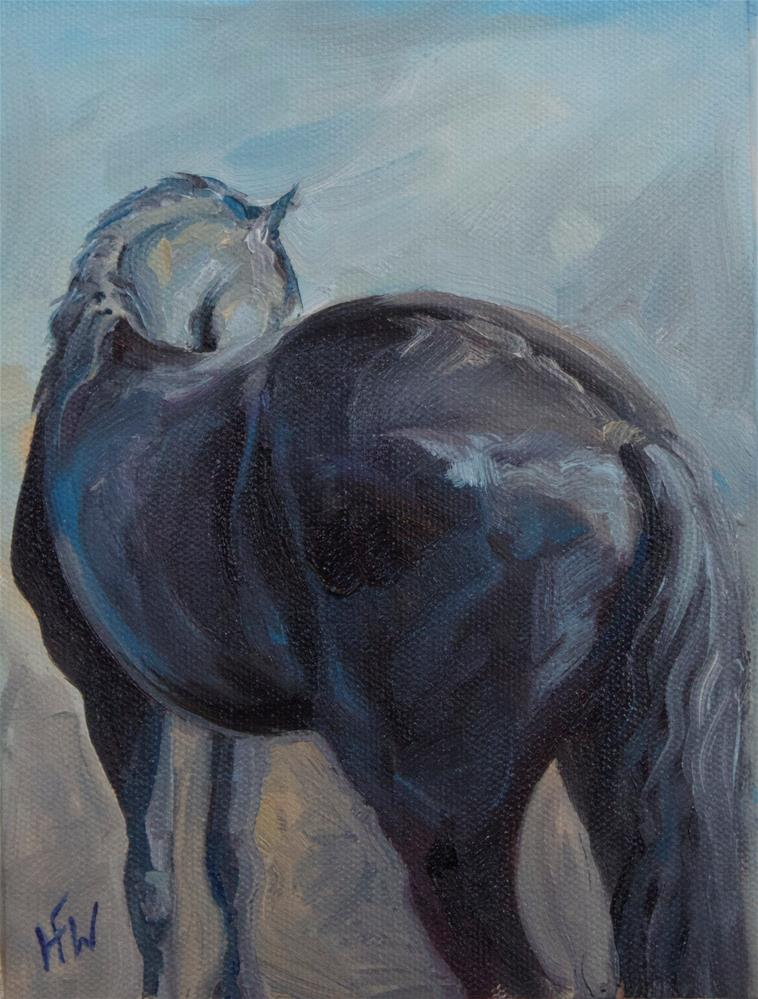 """""""Friesian from a different perspective"""" original fine art by H.F. Wallen"""