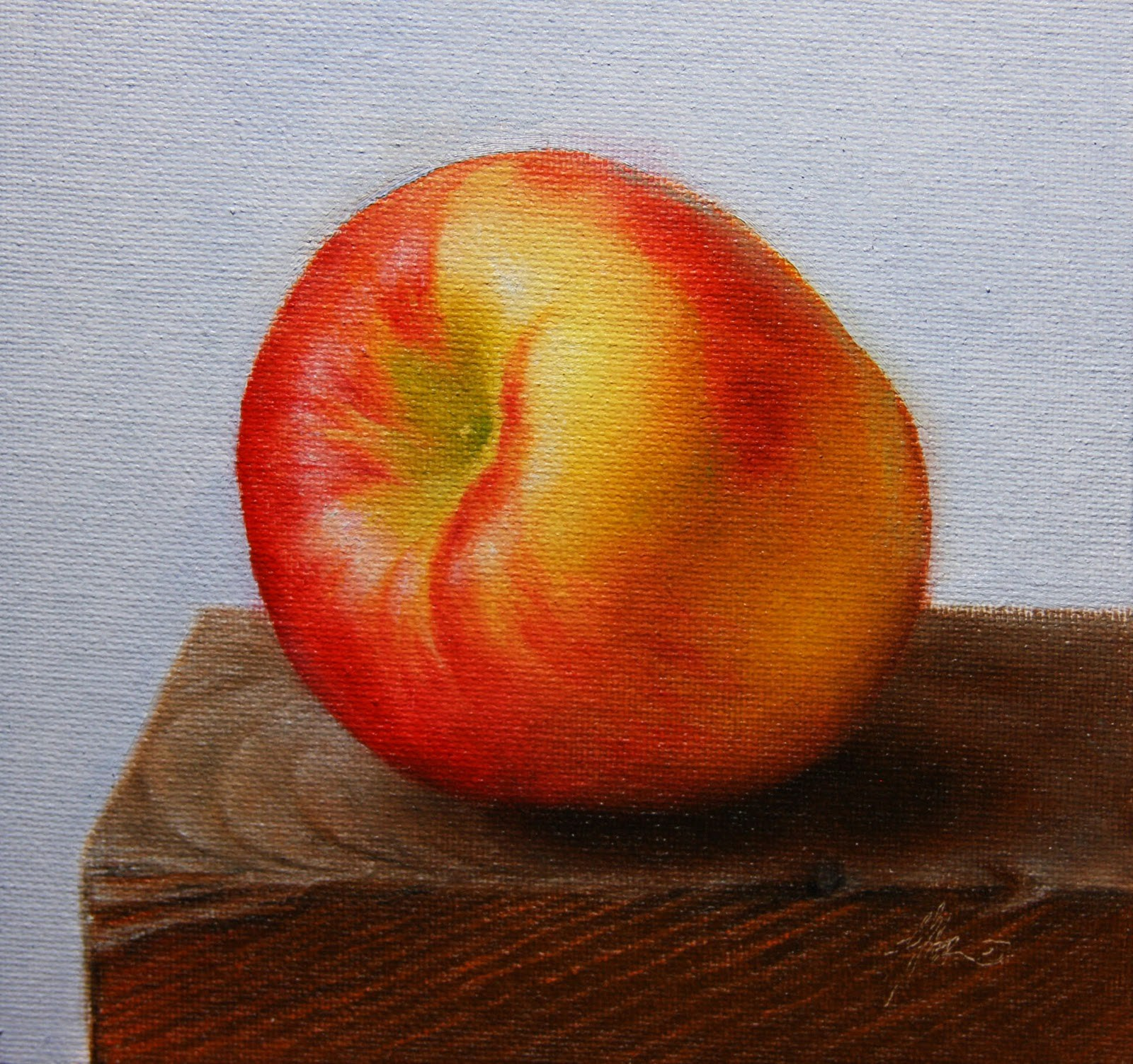 """Red Apple"" original fine art by Jonathan Aller"