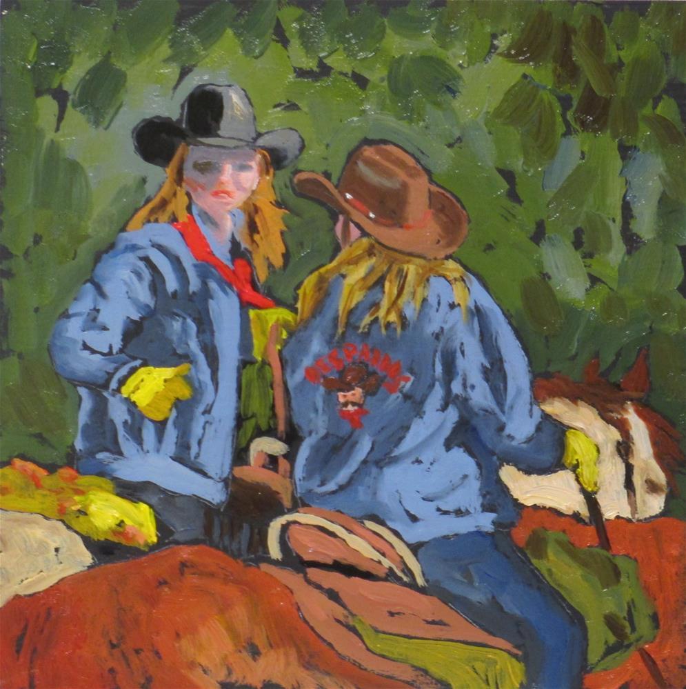 """On the Road Again"" original fine art by Judy Elias"