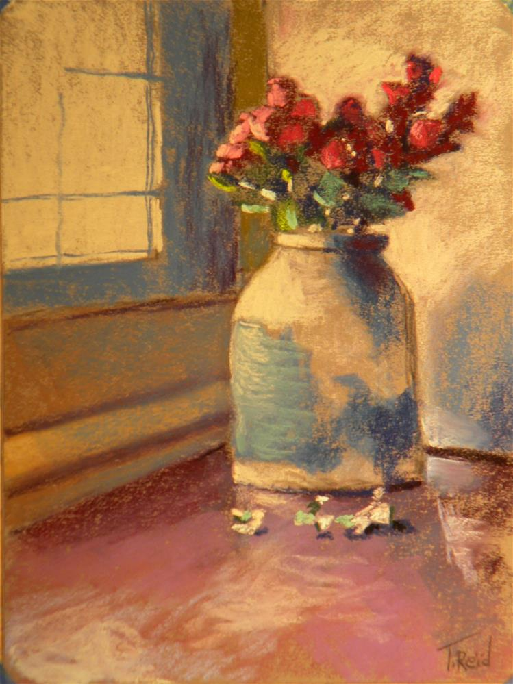 """Jug and roses"" original fine art by Toby Reid"