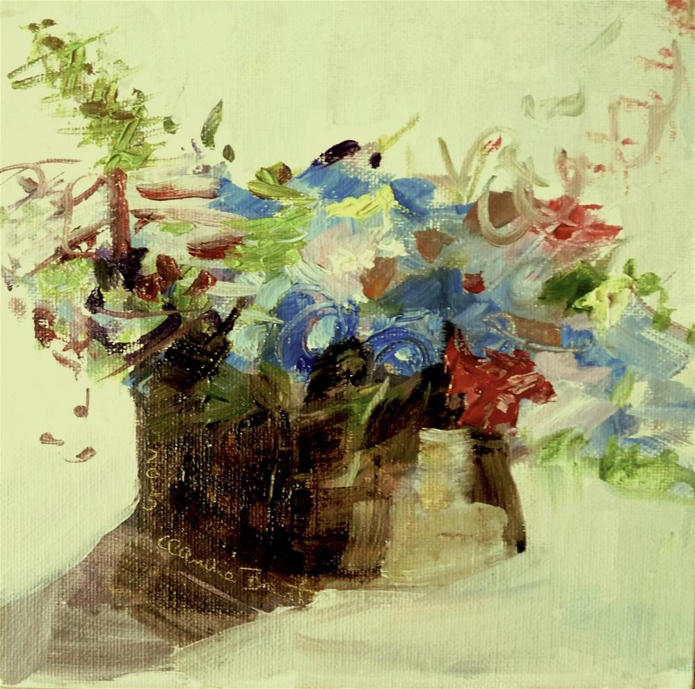 """Bouquet No.3"" original fine art by Claudia Brandt"