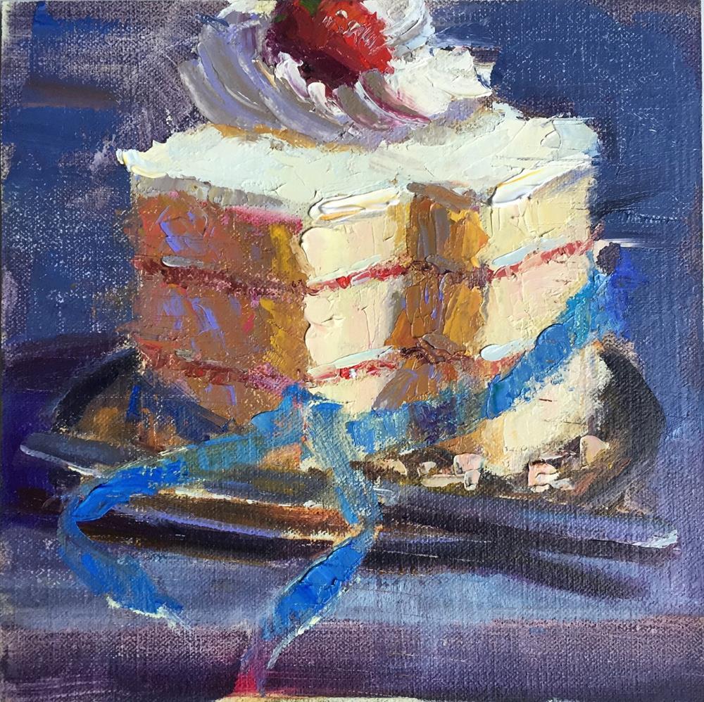 """Slice of Life Cake"" original fine art by Johanna Spinks"