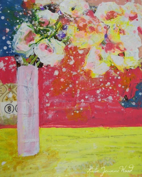 """Floral No 268"" original fine art by Katie Jeanne Wood"