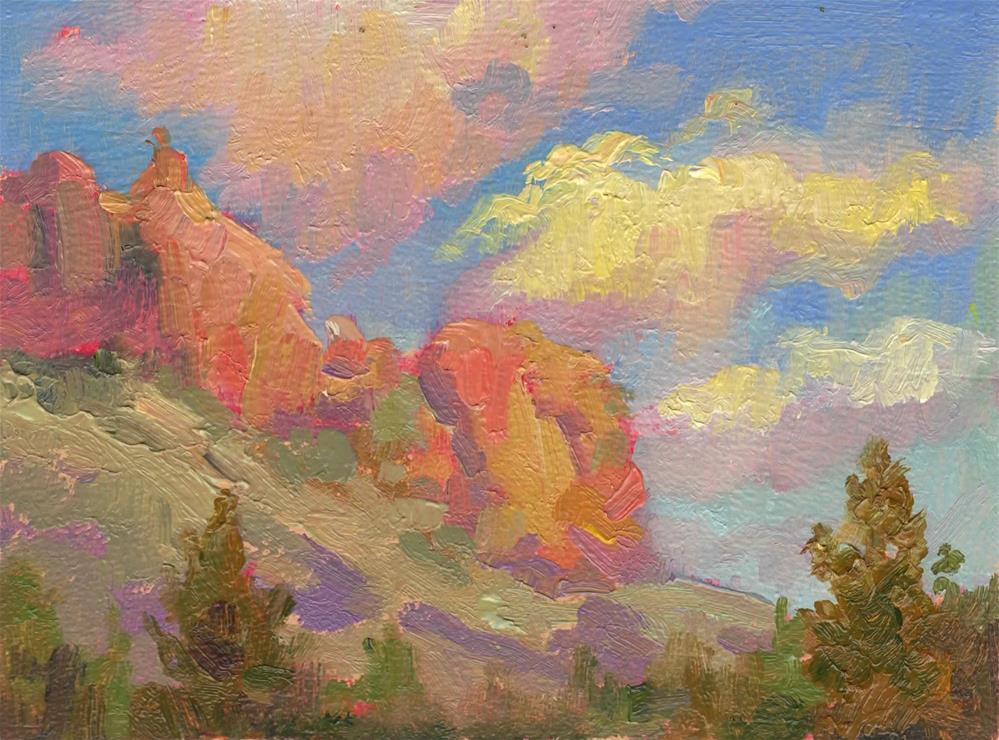 """""""STAENDER RIDGE SUNLIT"""" original fine art by Karen E Lewis"""