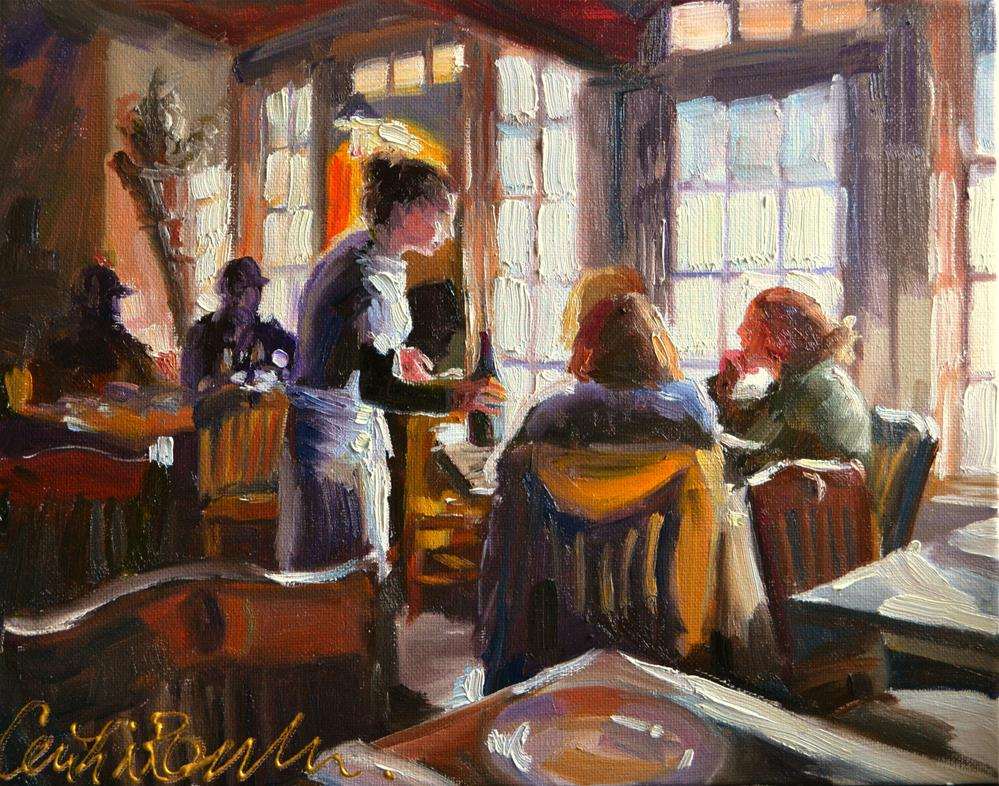 """CAFE RUSTICA"" original fine art by Cecilia Rosslee"