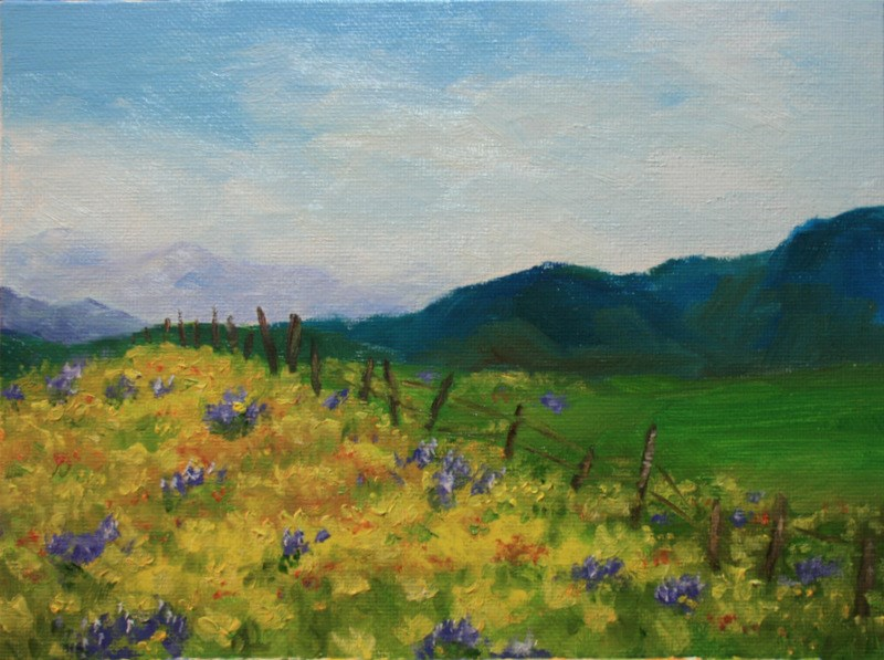 """Wildflowers"" original fine art by Jean Nelson"