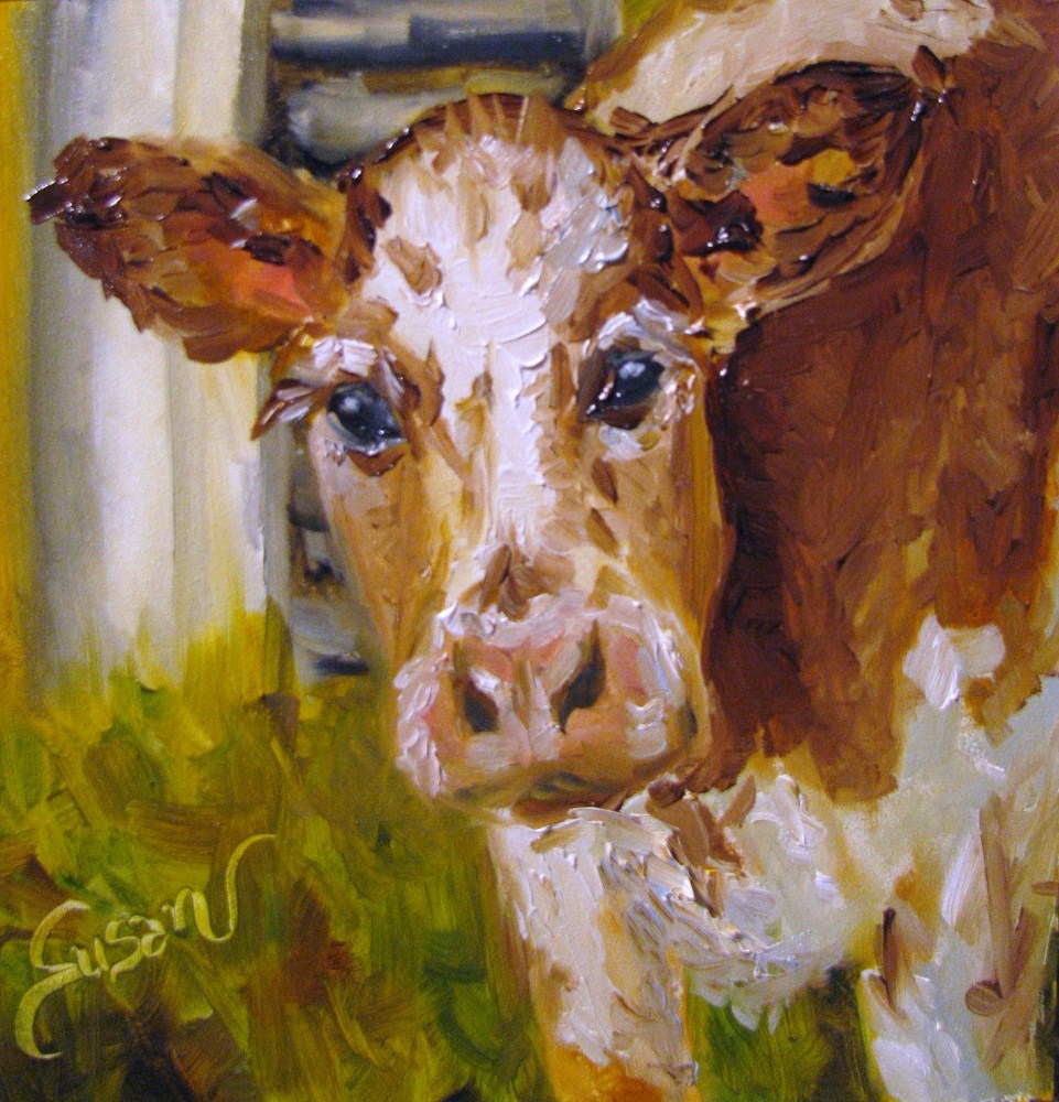 """Bessie"" original fine art by Susan Elizabeth Jones"