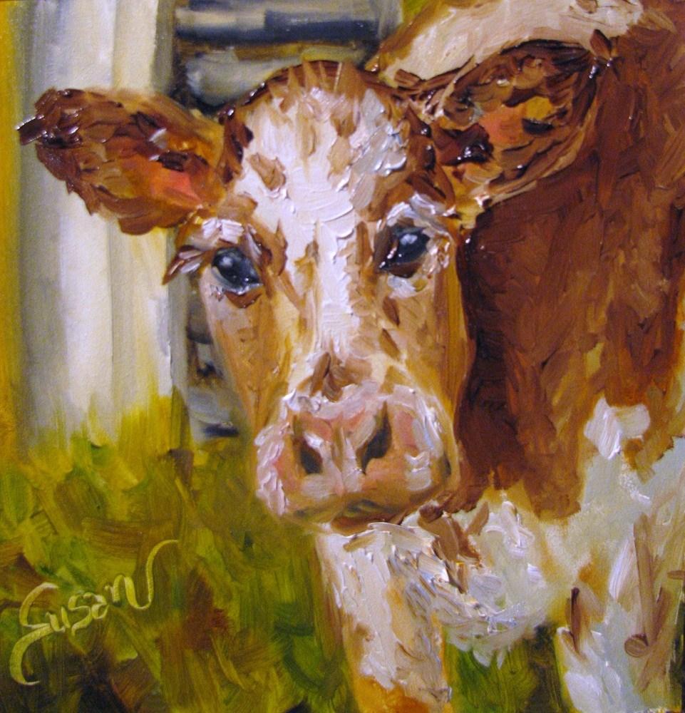 """Bessie"" original fine art by Susan E Jones"