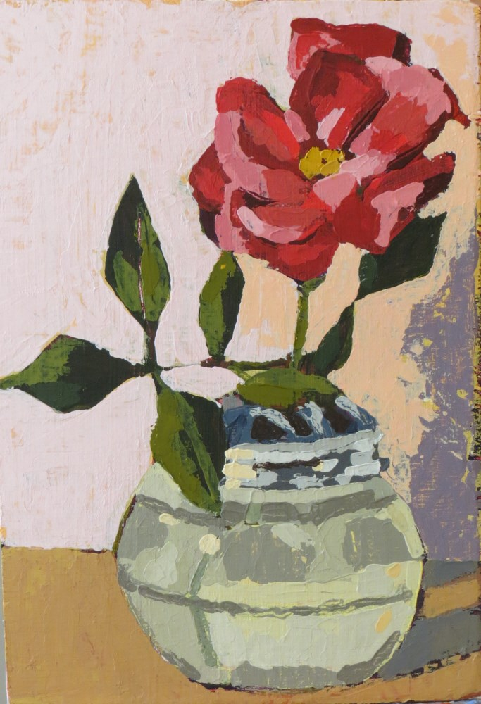"""Knock out Rose"" original fine art by Joan Wiberg"