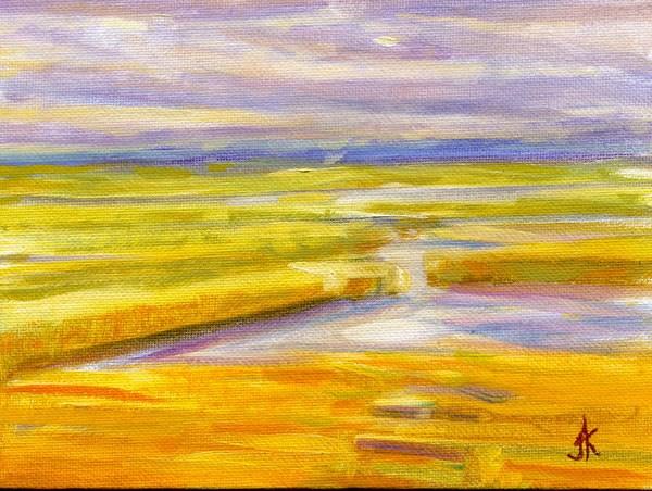 """Golden Marsh"" original fine art by J Kelsey"