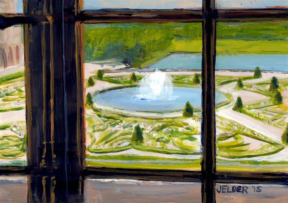 """""""View From the Palace Window"""" original fine art by Judith Elder"""