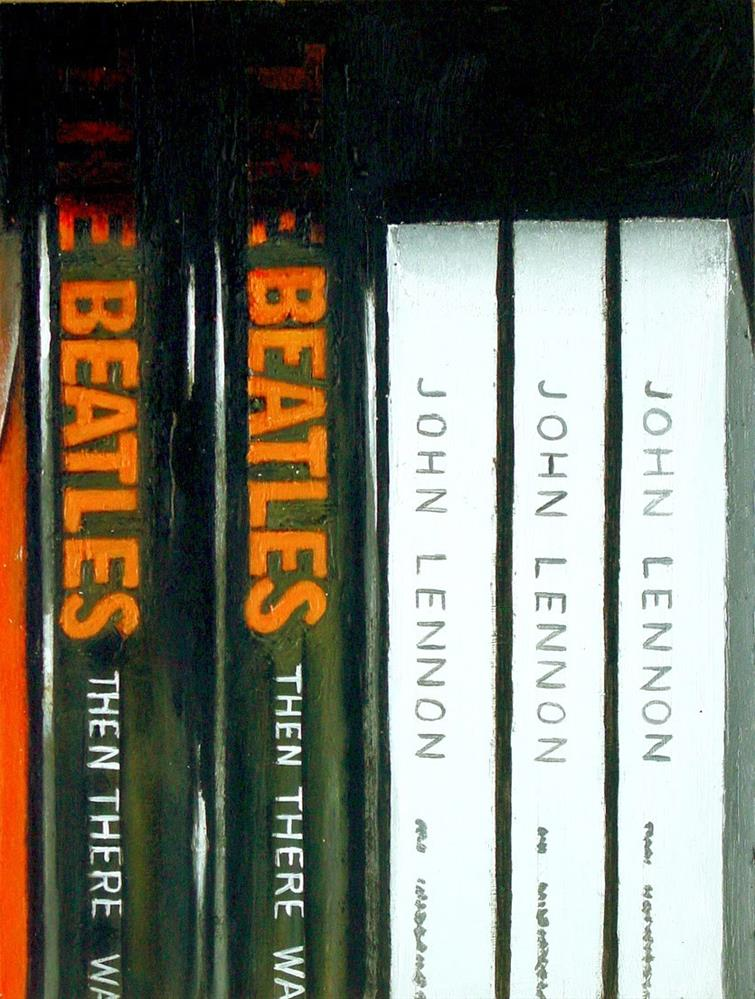 """Then There Was Music- Still Life Painting Of Books On The Beatles and John Lennon"" original fine art by Gerard Boersma"