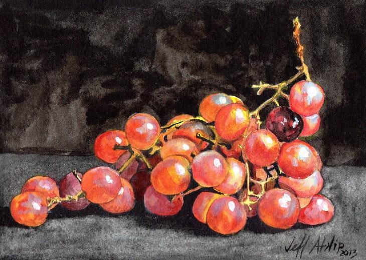 """Red Grapes"" original fine art by Jeff Atnip"