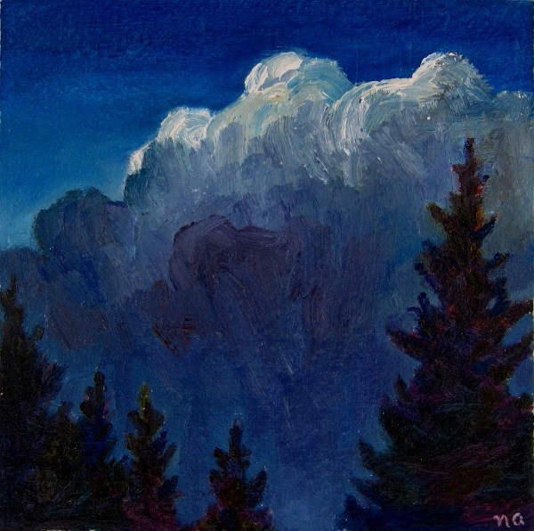 Midnight Blues original fine art by Nicki Ault