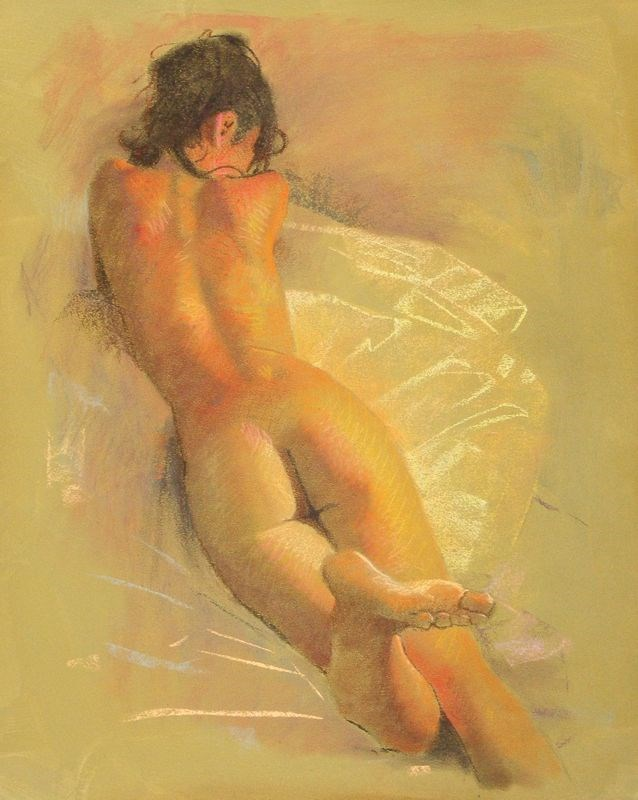 """Nude"" original fine art by Peter Orrock"