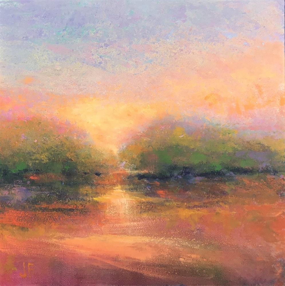 """""""Impressionistic Sunset"""" original fine art by Jean Fitzgerald"""