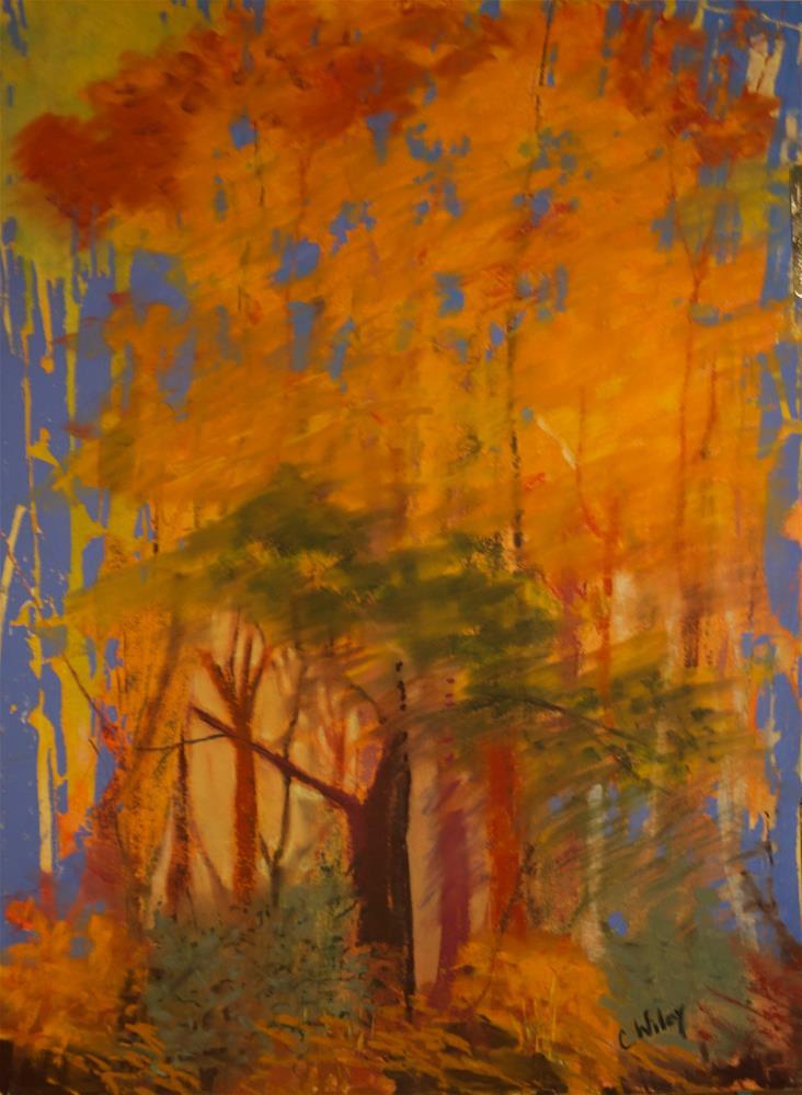 """Autumn Secret"" original fine art by Carol Wiley"