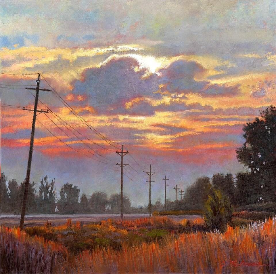 """Valley Sunset"" original fine art by Connie McLennan"