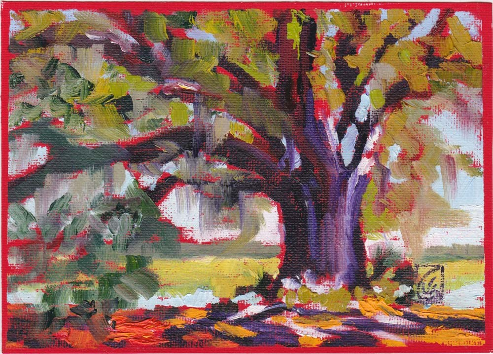 """Study for Ancient Oak"" original fine art by Lucinda Howe"