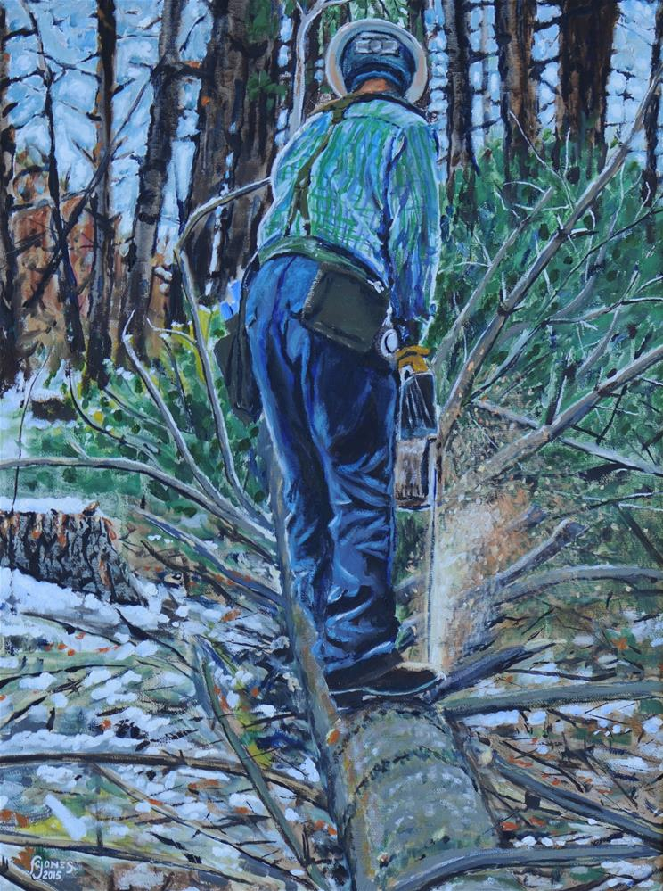 """Limbing"" original fine art by Fred Jones"