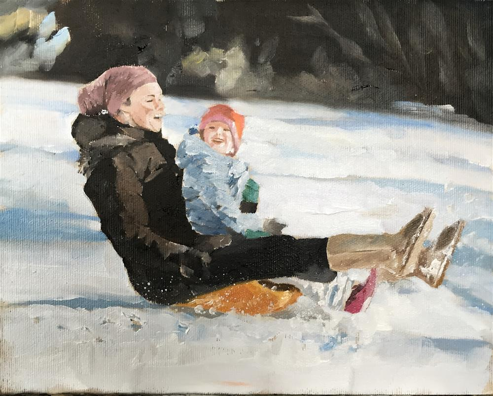 """Snow Fun"" original fine art by James Coates"