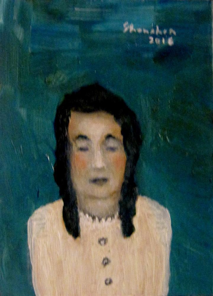 """Blue Jane"" original fine art by Alpha Shanahan"