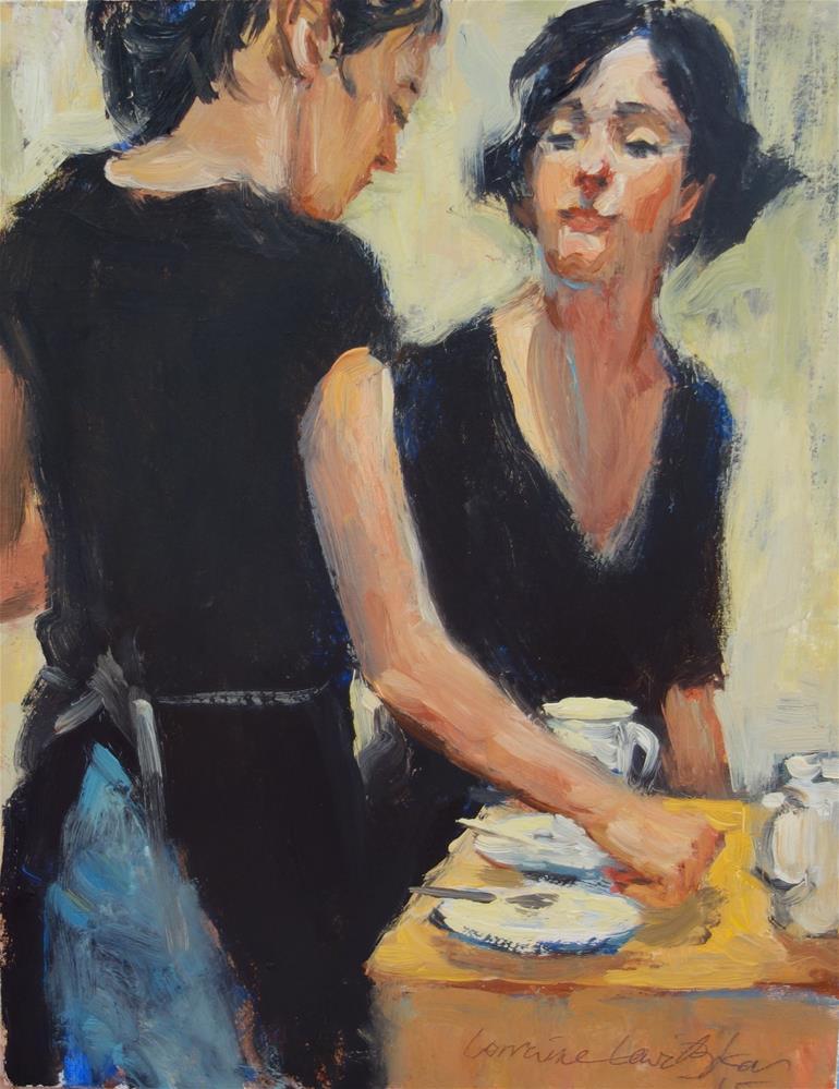"""The Last Two Coffees"" original fine art by Lorraine Lewitzka"