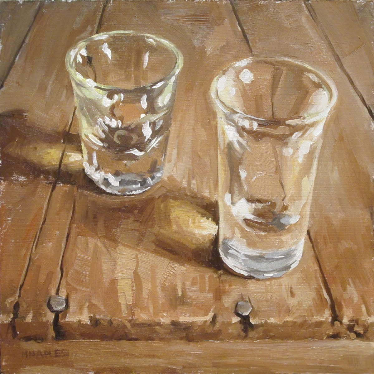 """Two Shots"" original fine art by Michael Naples"