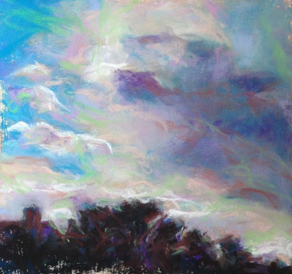 """WANDERING - pastel by Susan Roden & pickup sticks"" original fine art by Susan Roden"