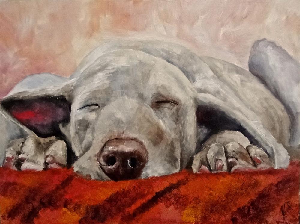 """Tartan Blanket"" original fine art by Karen Robinson"