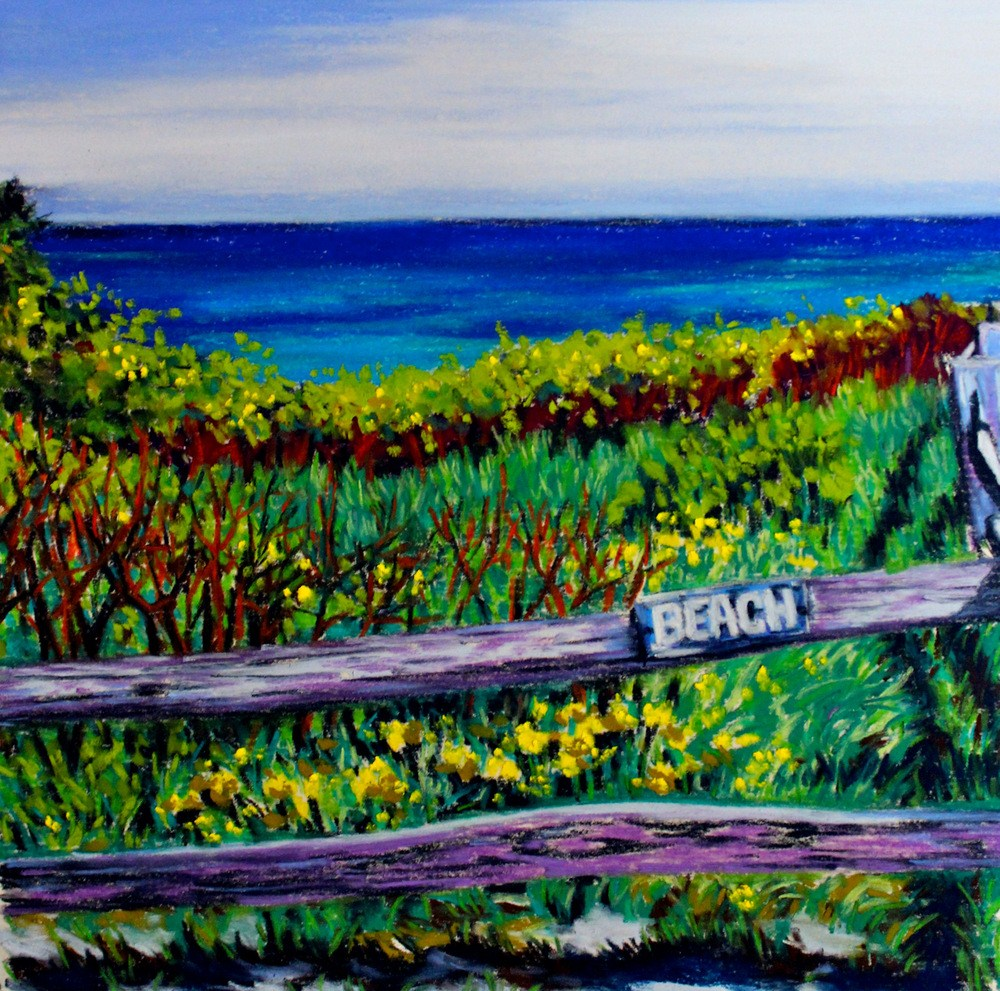 """Coast Guard Beach"" original fine art by Jill Bates"