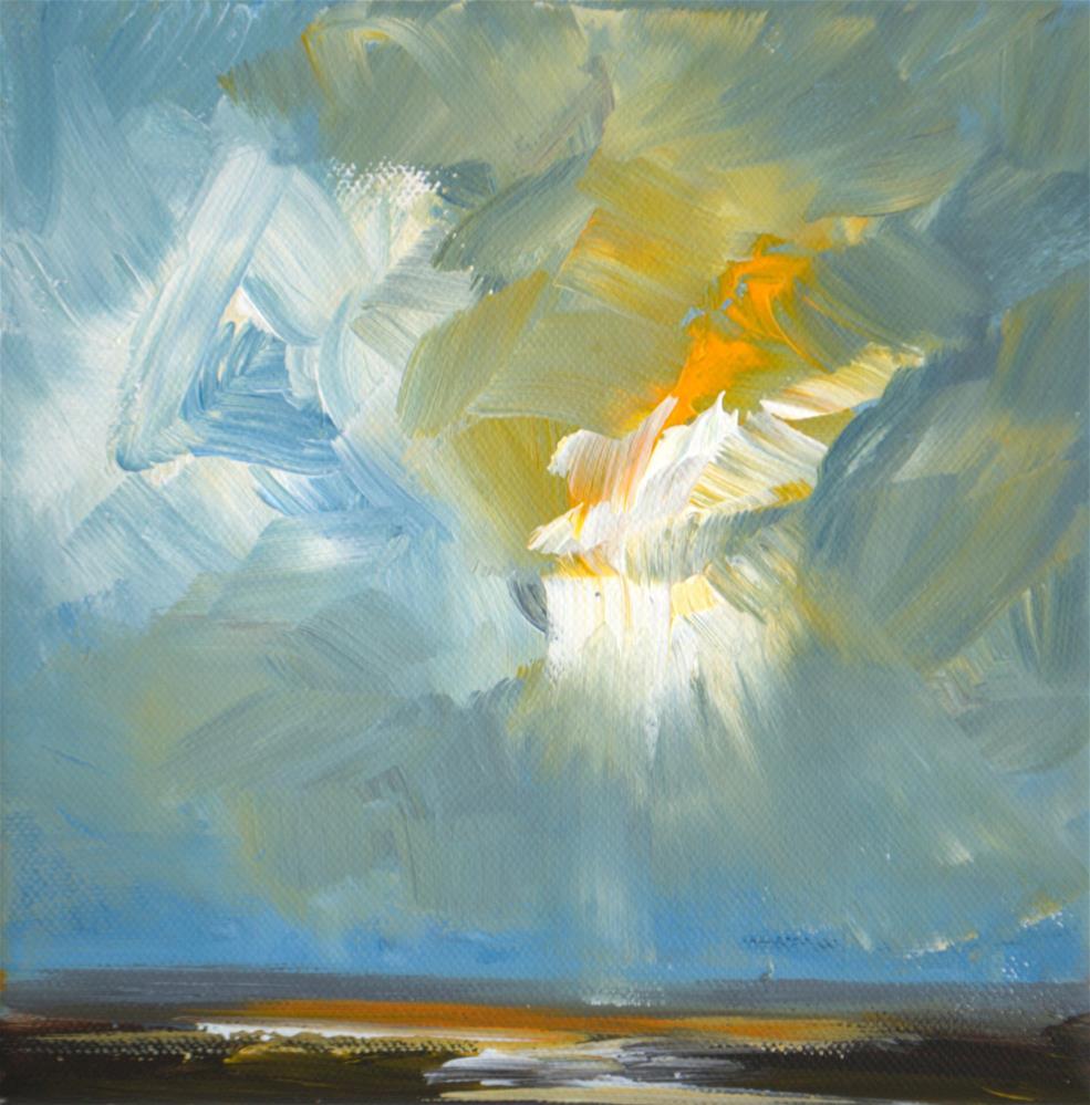 """""""Verdronken land van Saeftinghe 1"""" original fine art by Wim Van De Wege"""