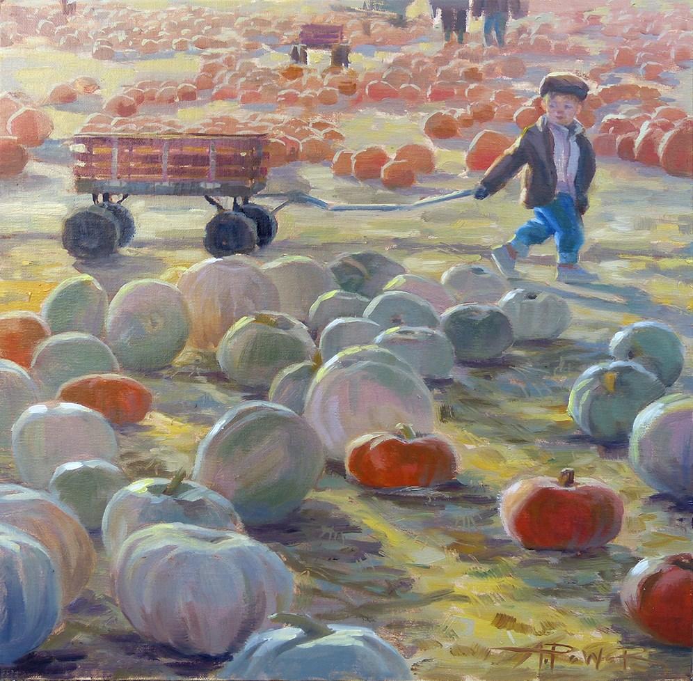 """Big Job"" original fine art by Anette Power"