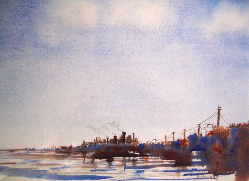 """Rust Belt River"" original fine art by Judith Freeman Clark"