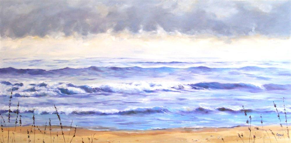 """Seamist, 48x24 Oil on Canvas"" original fine art by Carmen Beecher"