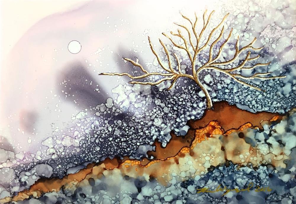 """Winter's Arrival"" original fine art by Karen Wysopal"